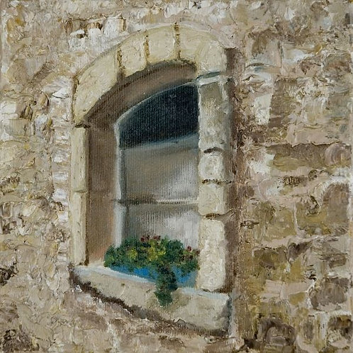 Landscape Painting - The Window's Ledge