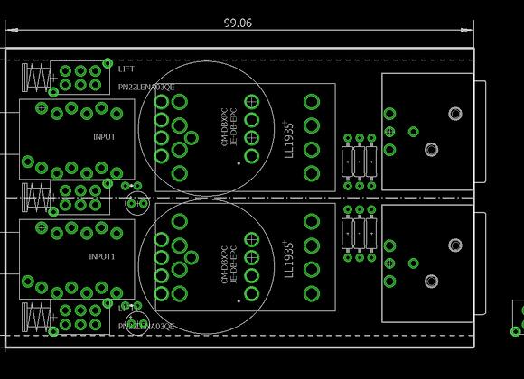 LL1935 Direct Injection PCB DI-box