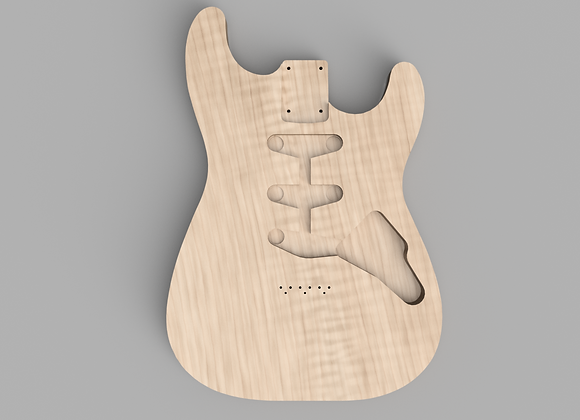 Fusion360 - Flat Top ST-Style + pickguard
