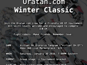 ORATAN.COM 1st. Winter Classic is Today!