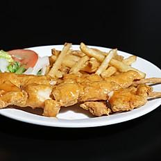 Crispy Fried Chicken Kabob Combo