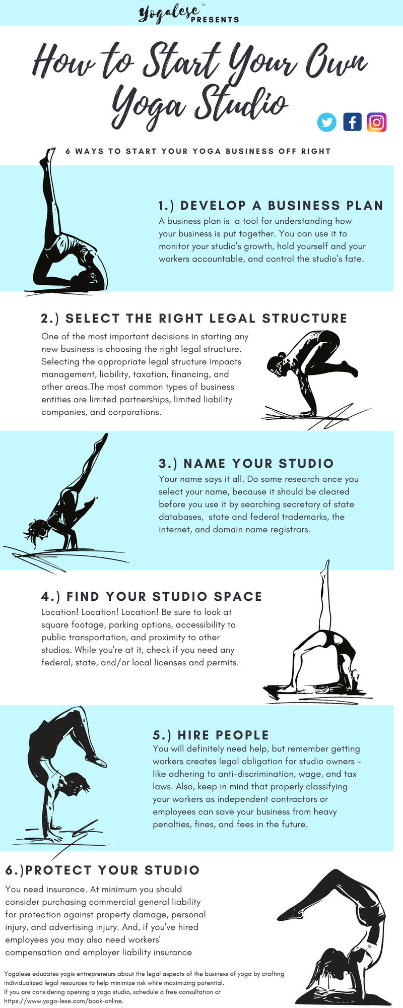 How to Start Your Own Yoga Studio: 6 Ways to Start Your Yoga Business off Right - Click the Link for Readable Text