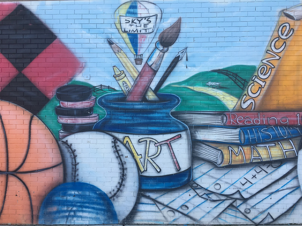 Mural of School Supplies
