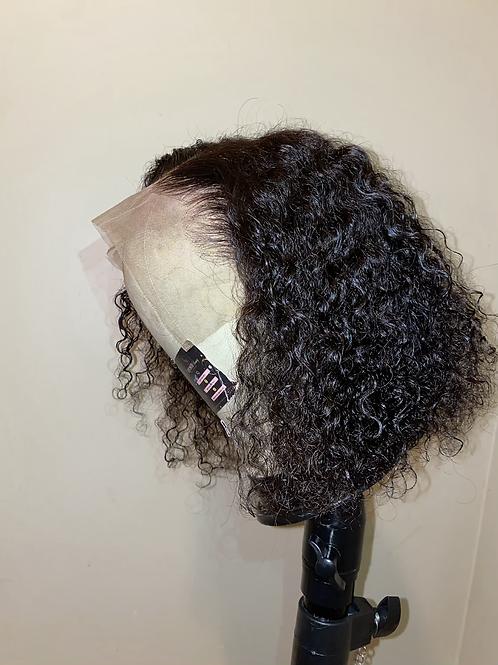 "12"" Curly 13x4 Frontal Bob Wig"