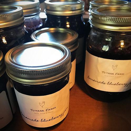 Homemade Blueberry Jam Pint