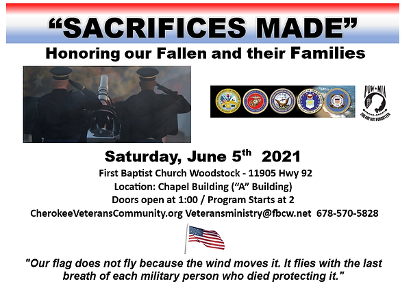 2021 Memorial Day Promotion Poster 2  HA