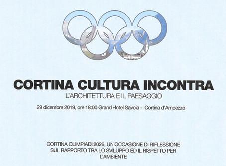 "European cultural event organized under the patronage of U.C.E.E.  ""CORTINA CULTURA INCONTRA"""