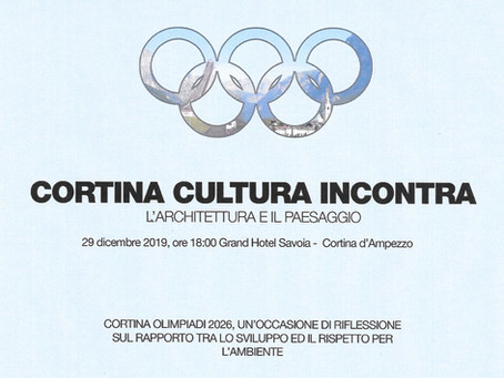 "European cultural event organized under the patronage of U.C.E.E.  ""CORTINA CULTURA INCONTRA"""