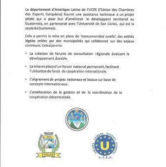 """U.C.E.E. PROJECT """" Cooperation for Sustainable Development - Local Development in Guatemala """""""