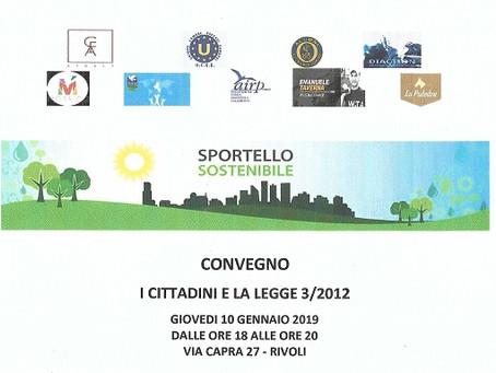 """CONFERENCE """" I CITTADINI E LA LEGGE 3/2012 """""""