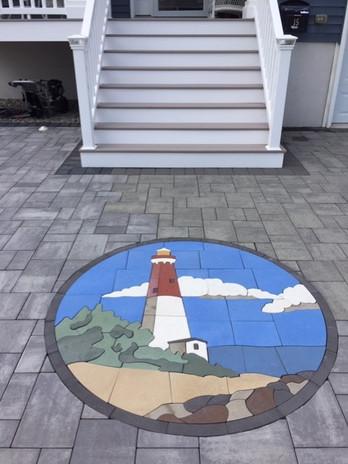 PAVERART Barnegat Lighthouse Inlay