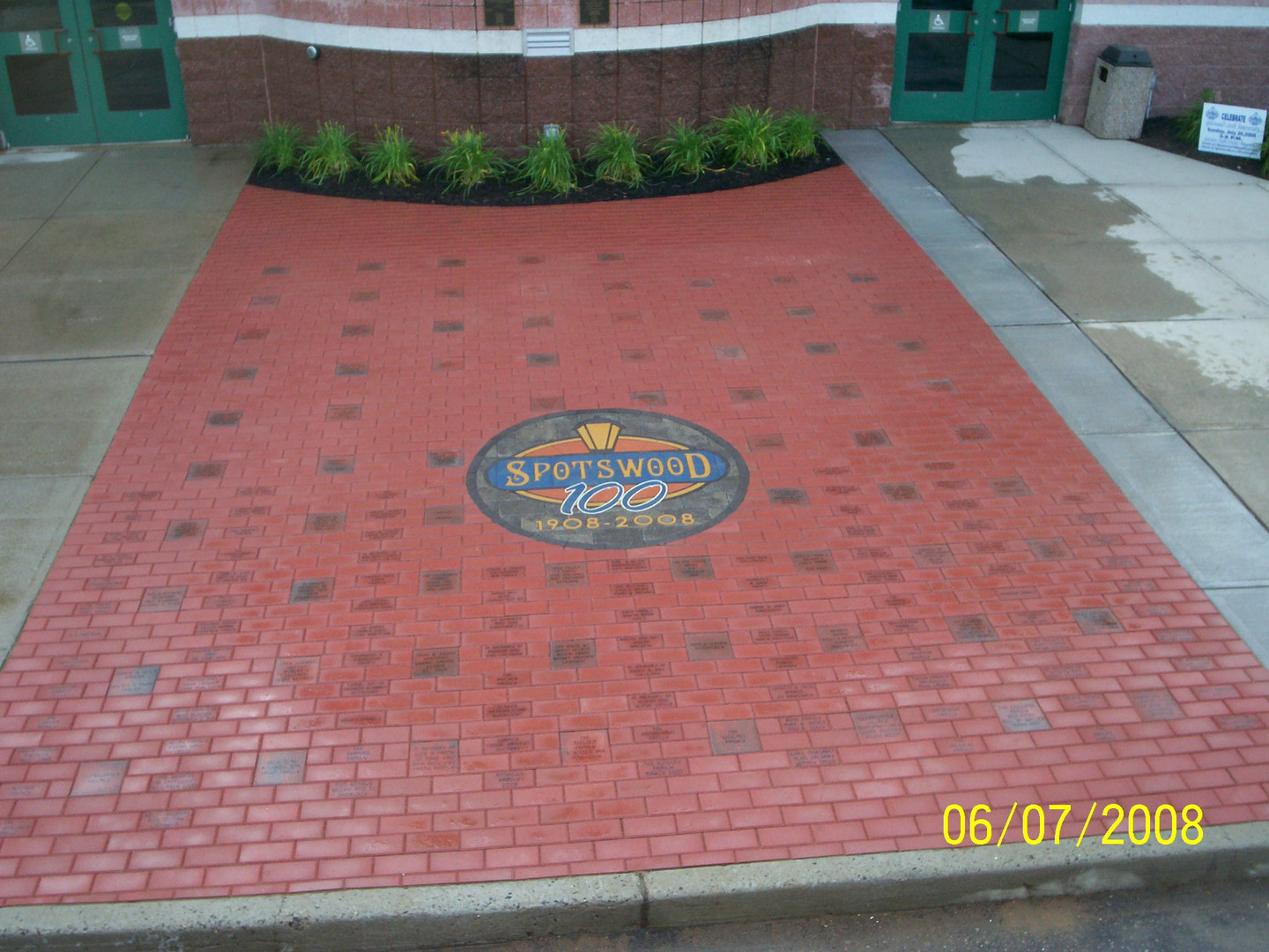PAVERART Spotswood NJ 100th Anniversary Walkway