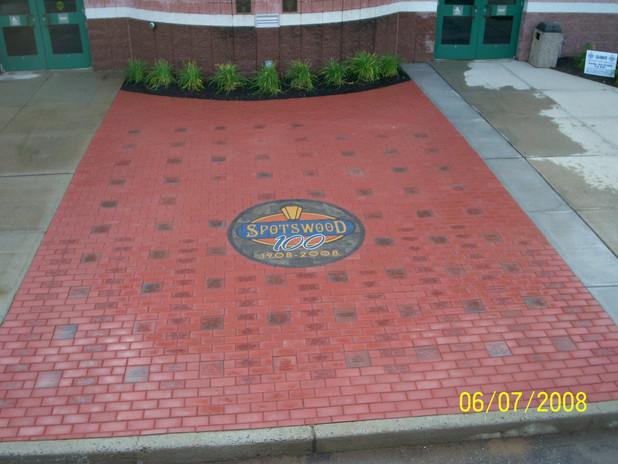 PAVERART Spotswood NJ 100th Anniversary Walkway