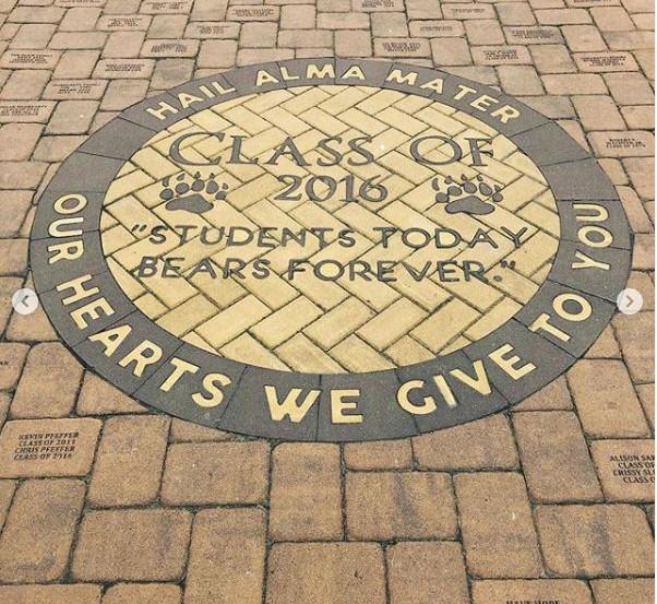 PAVERART Custom Logo with Engraved Pavers, Delran High School