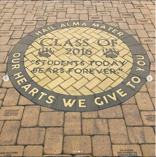 PAVERART Custom Logo with Engraved Pavers, Delran High School