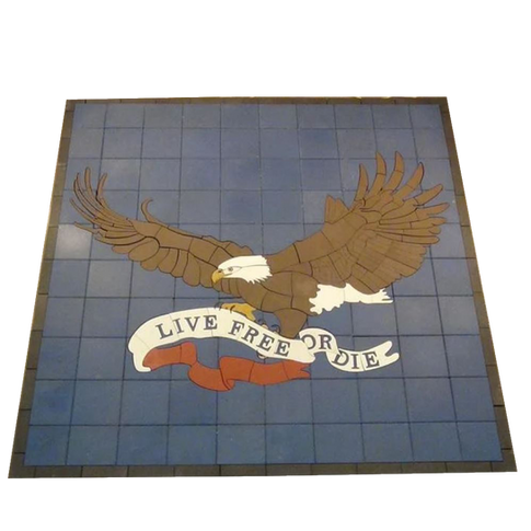 Eagle with Live Free or Die