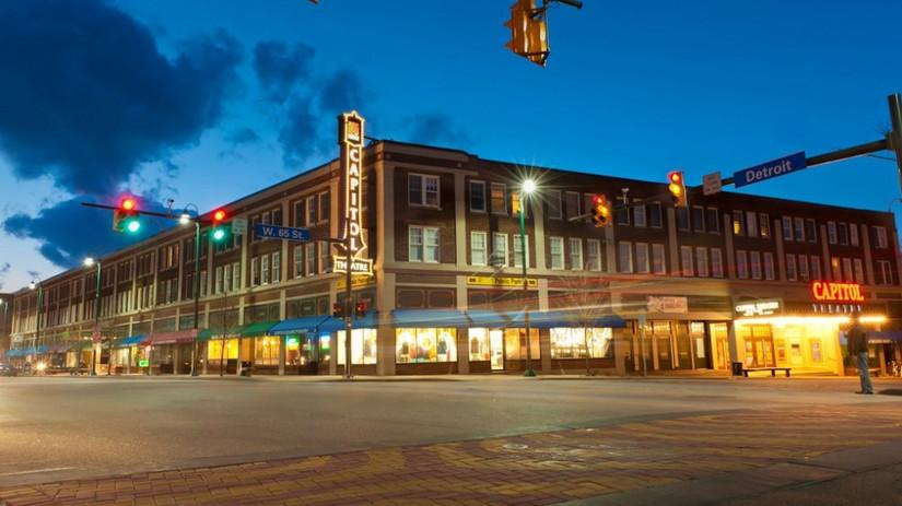 Gordon Square district Streetscape, Cleveland Ohio