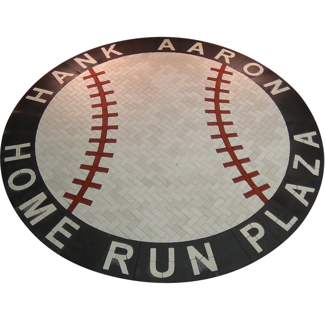 Hank Aaron Home Run Plaza Medallion