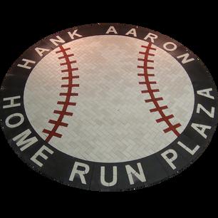 Hank Aaron Home Run Plaza Medallion