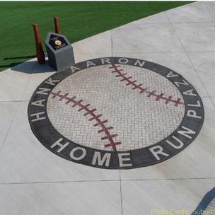Paverart Baseball Medallion at the Hank Aaron Home Run Plaza
