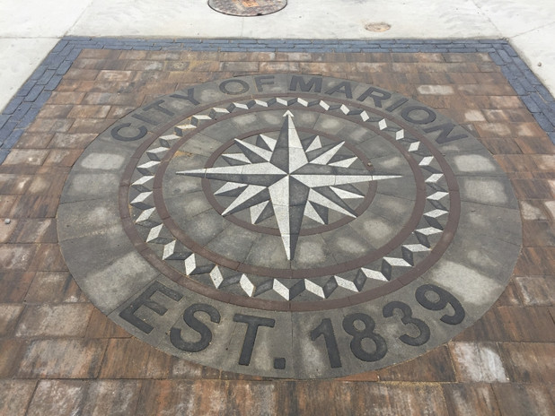 City Of Marion Compass Rose Inlay