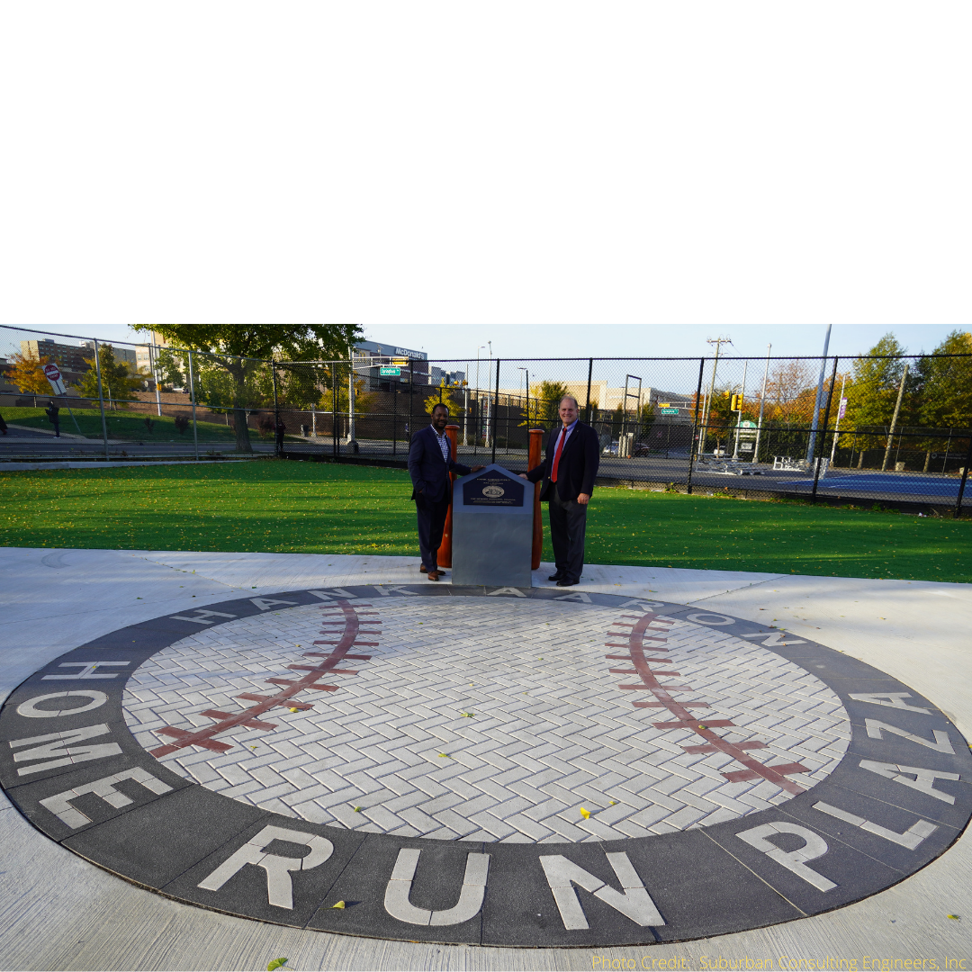 Paverart Baseball Medallion at the Hank Aaron Home Run Plaza at the Hank Aaron Home Run Plaza, Newark, NJ