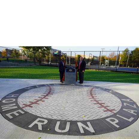 Paverart Baseball Medallion at the Hank Aaron Home Run Plaza at the Hank Aaron Home Run Plaza, Newark, NJ