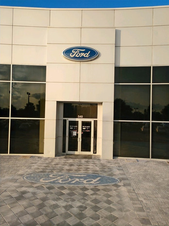 Ford Logo for Bozard Ford Lincoln. Install done by  Concrete