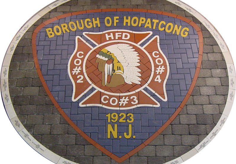 Hopatcong custom PAVERART shield