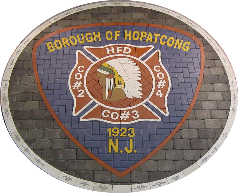 Hopatcong custom PAVERART shield
