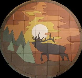 Elk by Sunset - SKU