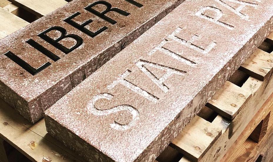 Paverart Liberty street markers