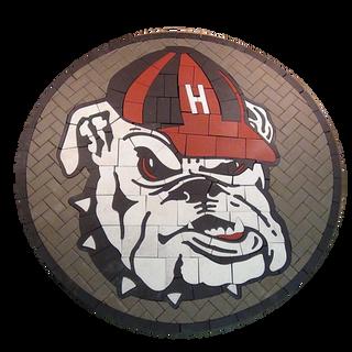 Haddonfield High School Bulldog Paver Logo