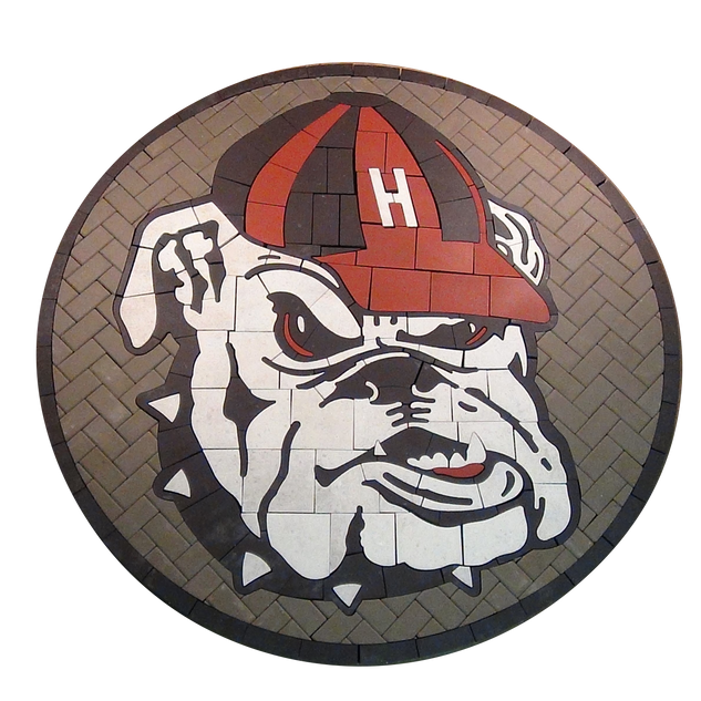 Haddonfield High School Bulldog Paver Logo