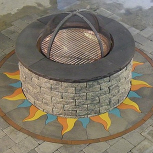 Firepit Ring Flames 1