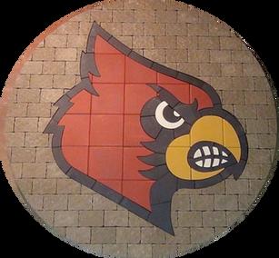 Louisville Cardinal Paver Logo