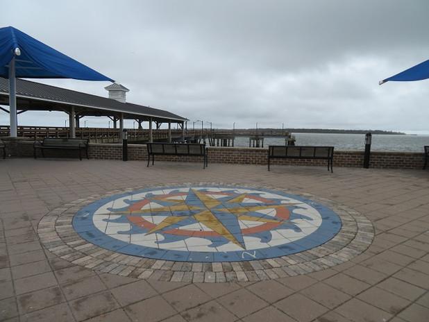 PAVERART Custom Compass Rose on Saint Simons Island, GA