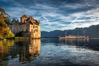 Boat cruise on geneva's lake