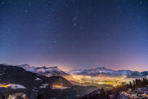 cold stars night, leysin