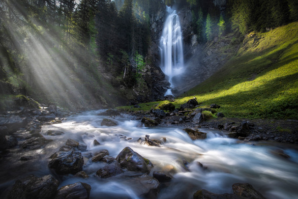 cascade d'iffig, La Lenk