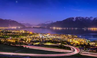 au dessus de vevey, suisse