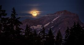 moonrise, Leysin, suisse