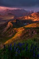 last light on chaussy's peak, suisse