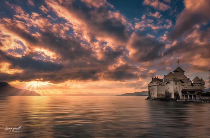 Les derniers rayons du château de Chillon