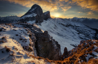 derriere les tours de leysin, suisse
