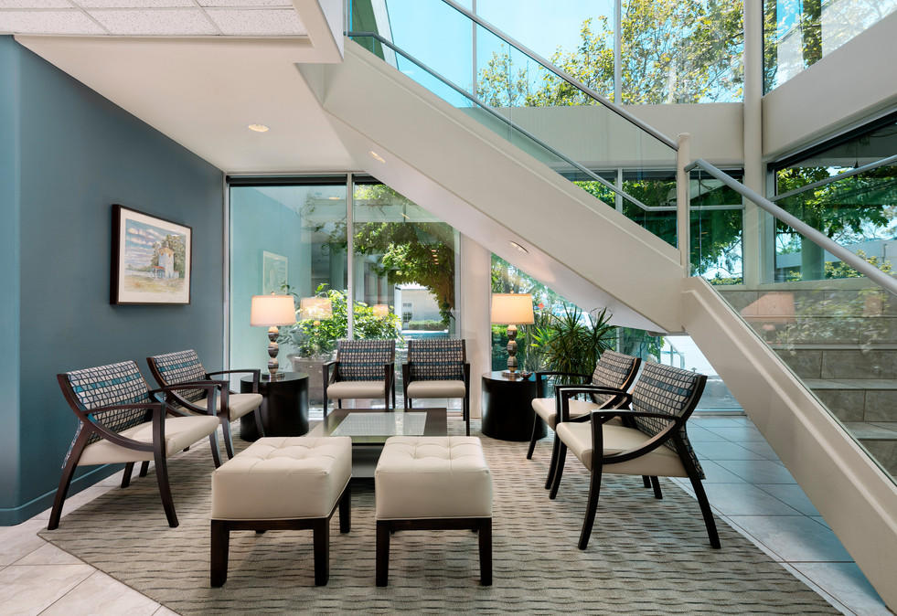 Contemporary Corporate office lobby design in Goleta