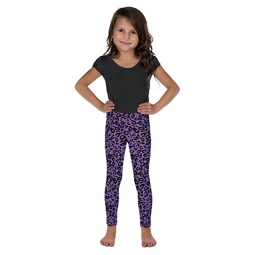 """Purple Leopard"" Kid's Leggings"