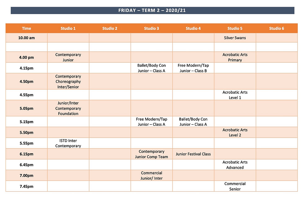 website Timetable - Friday Term 2 2020:2
