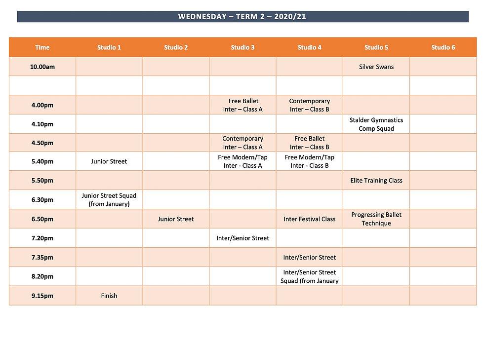 website Timetable - Wednesday Term 2 202