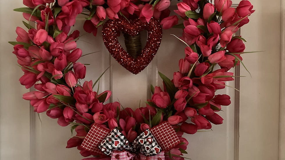 Large Heart Valentine's Wreath